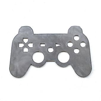 Game controller - metal cut sign 12x7in
