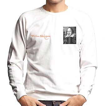 A.P.O.H William Shakespeare Black And White Portrait Men's Sweatshirt