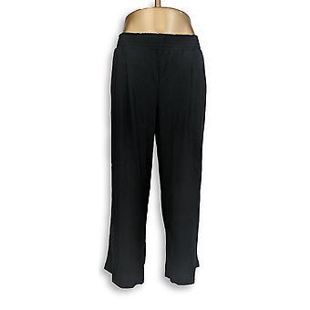 Jeder Frauen's Hose Petite LP gemütlich stricken schwarz A347173
