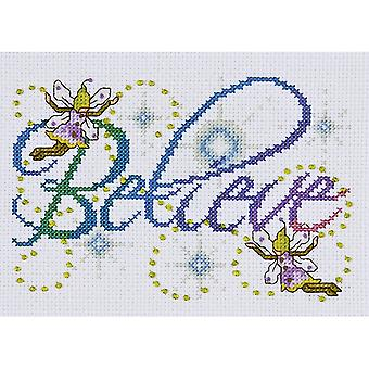 Believe Counted Cross Stitch Kit 5