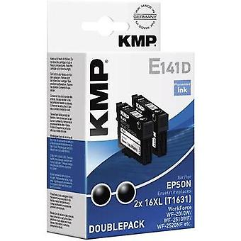 KMP Ink replaced Epson T1631, 16XL Compatible Pack of 2