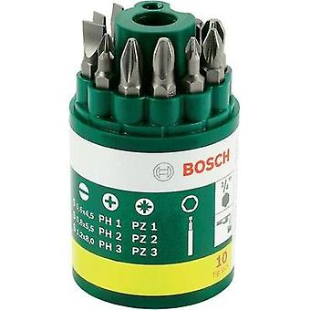 Bit set 10-piece Bosch Accessories Promoline 2607019454 Slot, Phillips, Pozidriv