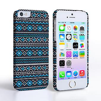Caseflex iPhone SE Fairisle Case – Grey with Blue Background