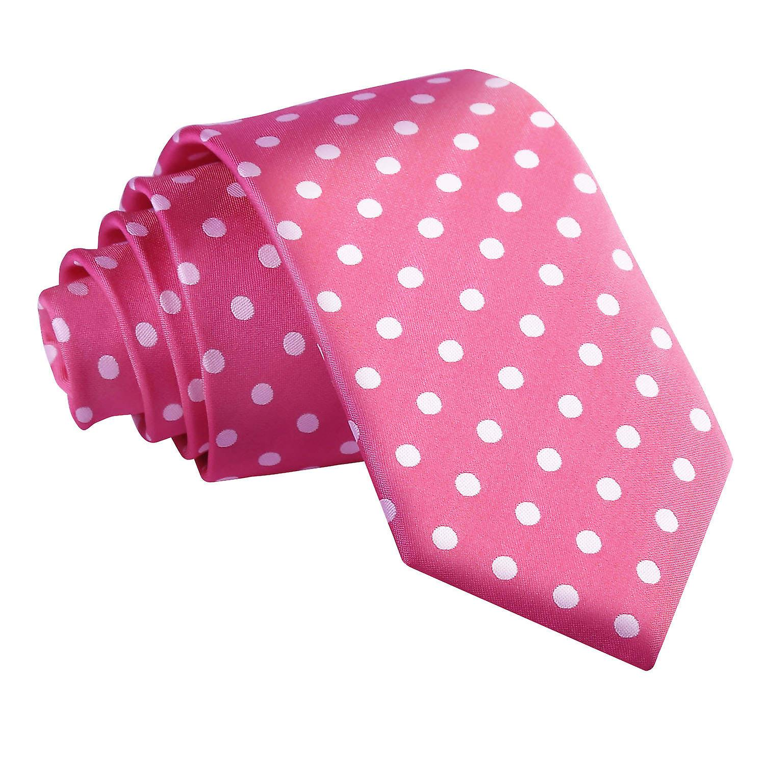 Polka Dot Hot Pink Slim Tie