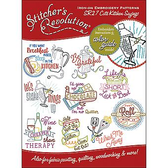 Stitcher's Revolution Iron-On Transfers-Cute Kitchen Sayings SR-27