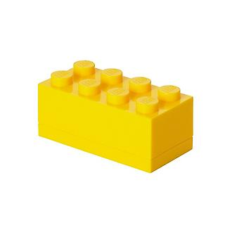 LEGO Opbergbox: mini brick 8 geel