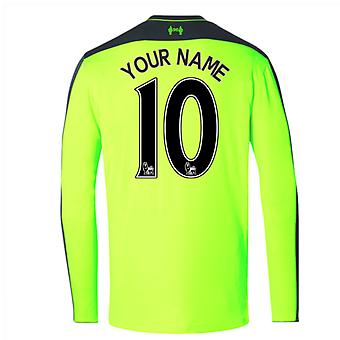 2016-17 Liverpool Third Long Sleeve Shirt (Your Name)