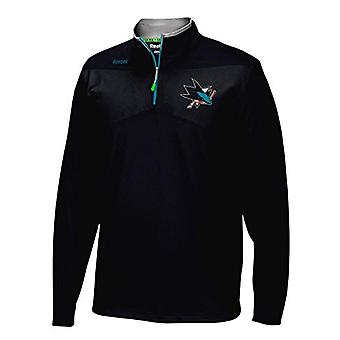 Reebok center Ishallen 1/4 zip NHL San Jose Sharks