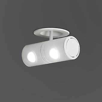Milan Led Recessed Ceiling S / Tra.2x4.5W White