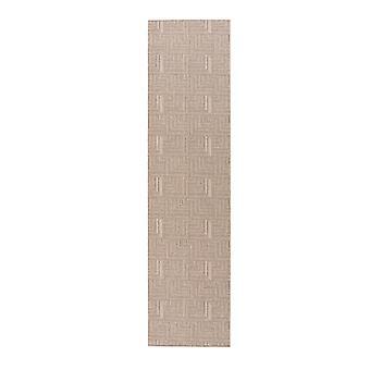 Grey Textured Geometric Flatweave Mat Frankfurt