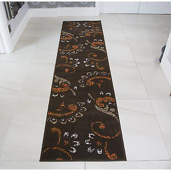 Brown & Terracotta Floral Runner tapijt