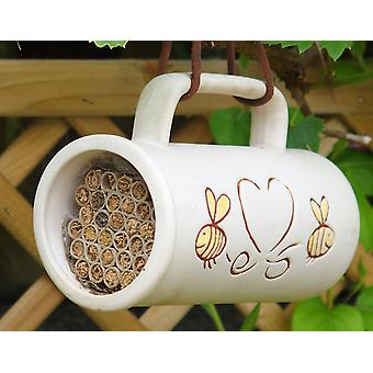 Pollinating Bee Mug Including Nesting Tubes