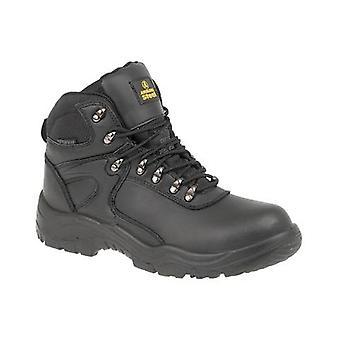 Gibt Stahl FS218 Mens WP Sicherheit Stiefel Textil Leder Dual-Density PU Lace Up