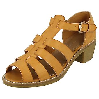 Ladies Anne Michelle Mid Heel Gladiator Sandal F10167