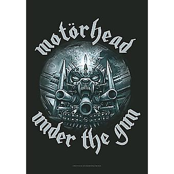 Motorhead Under The Gun large fabric poster / flag 1100mm x 750mm (hr)