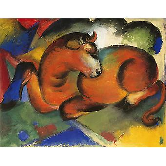 Franz Marc - Roter Stier 1912 Poster Print Giclee