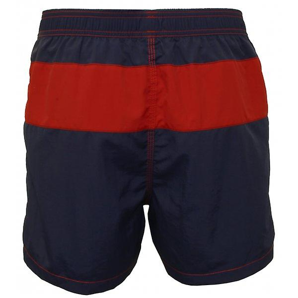 Jockey Block Stripe Swim Shorts, Navy/Red