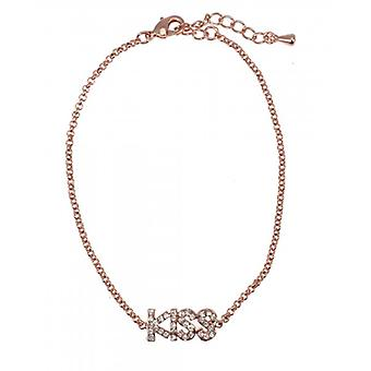 W.A.T Rose Gold Style Crystal Kiss Bracelet