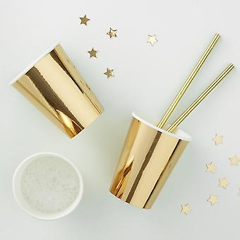 Gold Foiled Paper Cups - Metallic Star