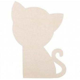 6 Large Wooden Cat Shapes   Wooden Shapes for Crafts