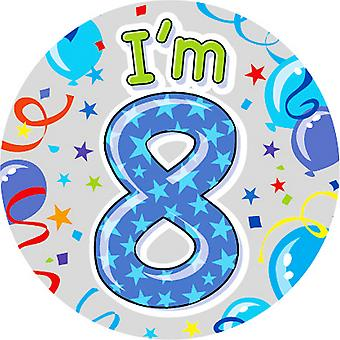 Expression Factory Childrens Boys I Am 8 Today Giant Badge