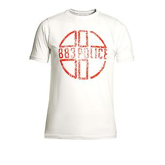 883 POLICE Miller Graphic Print T-Shirt White
