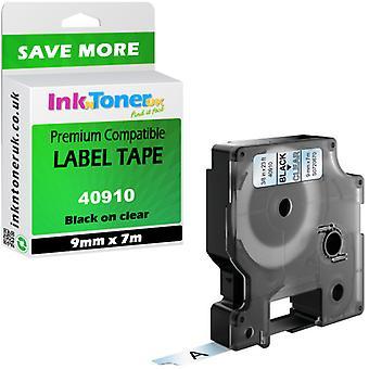 40910 compatible noir-clair cartouche 9 x 7 pour Dymo Label 2000