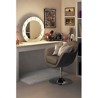 Diamond X Gloss White Hollywood Makeup Mirror with Dimmable LED k248