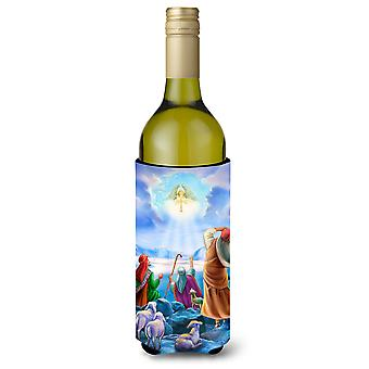 The Shepherds and Angels Appeared Wine Bottle Beverage Insulator Hugger