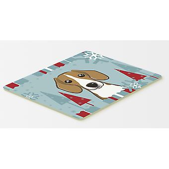 Carolines Treasures  BB1735CMT Winter Holiday Beagle Kitchen or Bath Mat 20x30