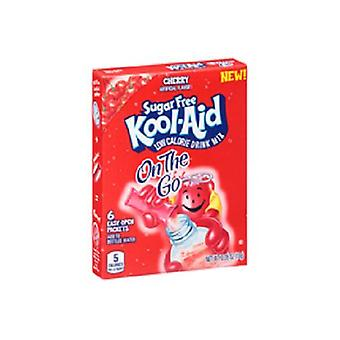 Kool Aid On The Go Sugar Free Cherry Drink Mix Singles 2 Box Pack