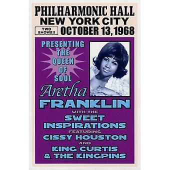 Aretha Franklin-New York 1968-Plakat-Druck (15 x 23)