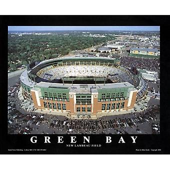 Green Bay Wisconsin - New Lambeau Field Poster Print by Mike Smith (28 x 22)