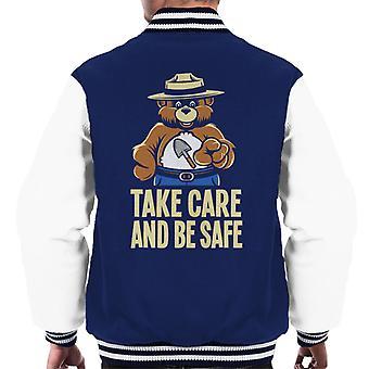 Smokey Bar Take Care And Be Safe Men's Varsity Jacket