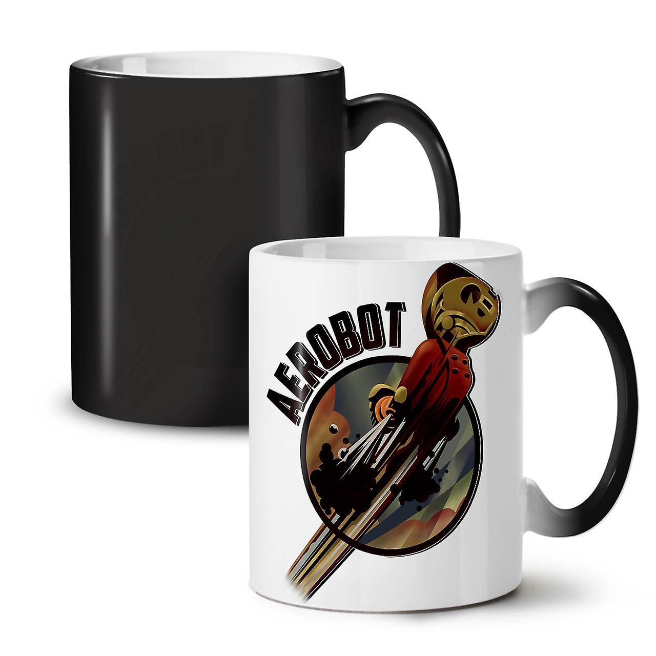 Robot Space OzWellcoda Coffee Ceramic New Black Tea 11 Mug Geek Changing Colour XlkZTwOuPi