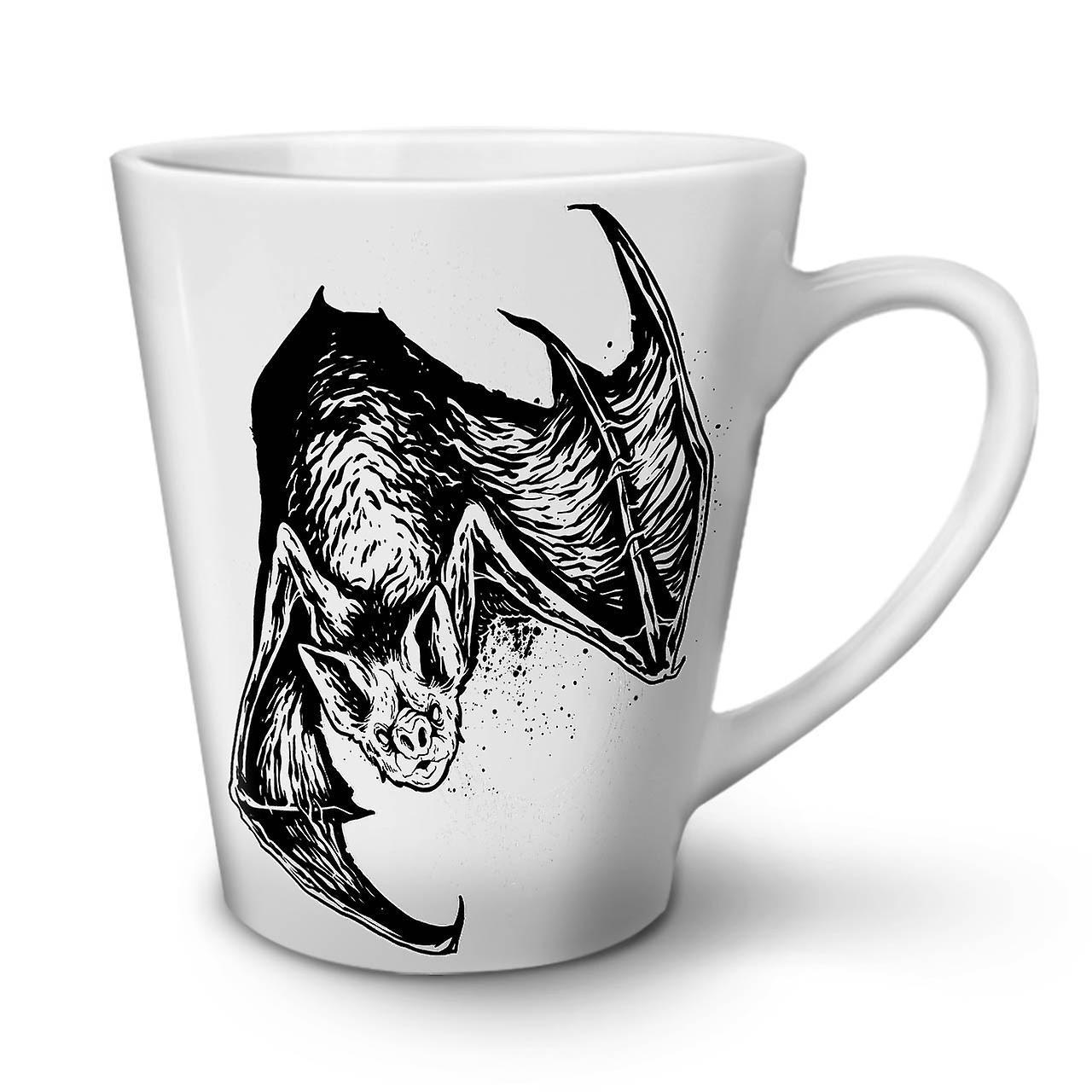 12 Céramique Blanche Latte Tasse OzWellcoda Animal Café En Bat Nuit Nouvelle Bête 9IEH2WD