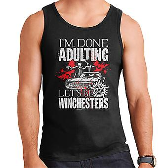 Supernatural Done Adulting Be Winchesters Men's Vest