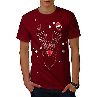 Christmas Deer Red Men RedT-shirt | Wellcoda