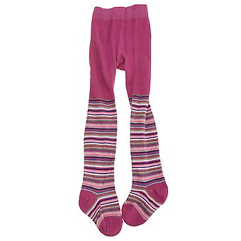 Baby Girls Fine Stripe Design Tights With Elastane