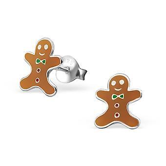 Gingerbread - 925 Sterling Silver Colourful Ear Studs