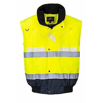 Portwest - Glowtex Hi-Vis Safety Workwear 3-in-1 Jacket