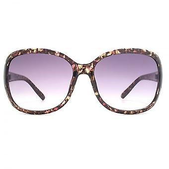 M:UK Notting Hill Classic Wrap Sunglasses In Pink Confetti Print