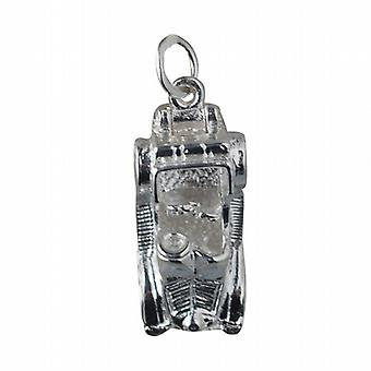 Silver 25x10mm moveable vintage Car Pendant or Charm