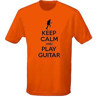Houd kalm en spelen gitaar Mens T-Shirt 10 kleuren (S-3XL) door swagwear