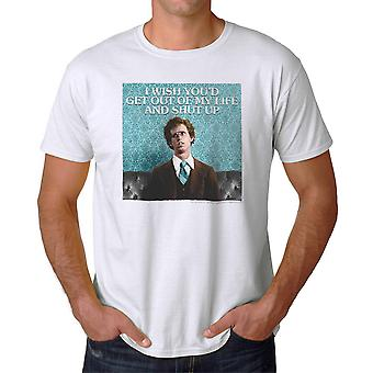 Napoleon Dynamite Get Out Of My Life Men's White Funny T-shirt