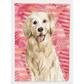 Carolines Treasures  CK1767CHF Love a Golden Retriever Flag Canvas House Size