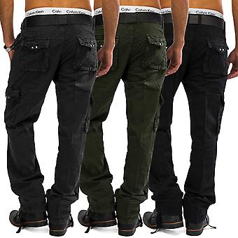Mens Cargo Jeans Loose Fit Cargo Pants Work Trousers (100% cotton)