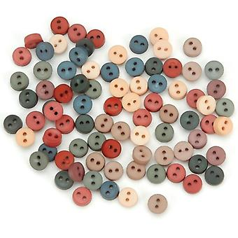 Dress It Up Embellishments-Tiny Round Buttons - Country