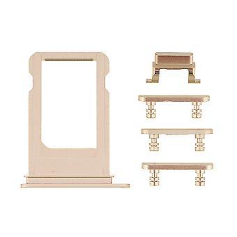 Guld Side knapper sæt med SIM skuffen For iPhone 7   iParts4u