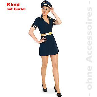 Pilotażowe pilota sukienki kobiety kostium kostium damski lotnik